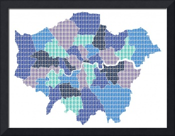 London Map - Blue