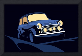 Mini Cooper in Blue