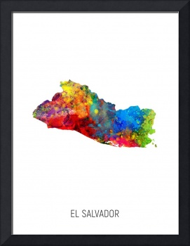 El Salvador Watercolor Map