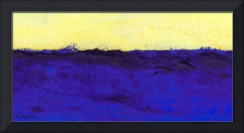 E1 Abstract Expressionism Oil Sunrise Painting
