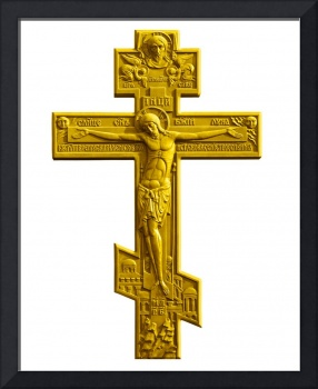 Russian golden orthodox cross