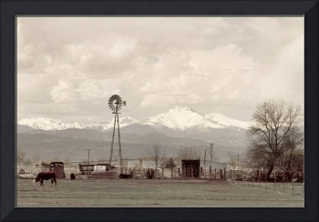 Longs Peak Old Country VIew