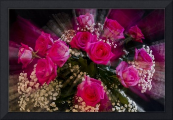 Pink Roses Bouquet Explosion