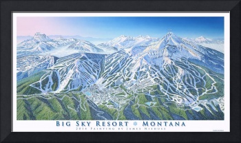 Big Sky - 2014 trail map image