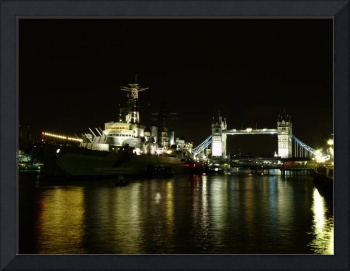 Tower Bridge and the Belfast at Night