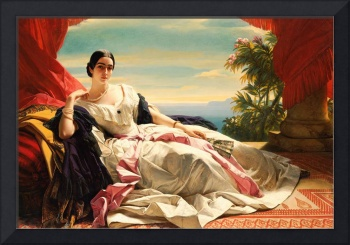 Oil Painting of a Women Reclining