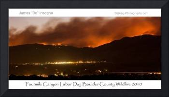 Boulder County Fourmile Wildfire Panorama Poster