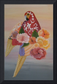 Parrot with florals ll