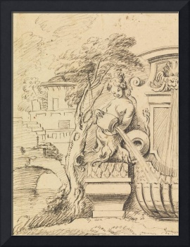 Gilles-Marie Oppenord~Design for a Fountain