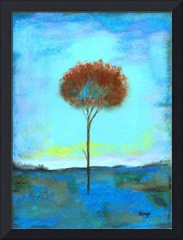 Significant Lone Tree Painting