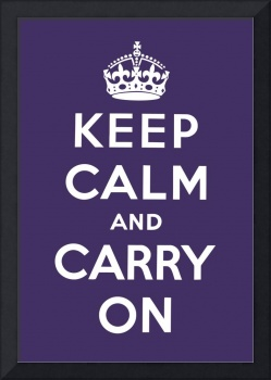 Purple Keep Calm And Carry On 1
