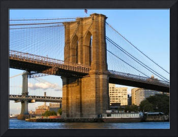 Close Up of the Brooklyn Bridge