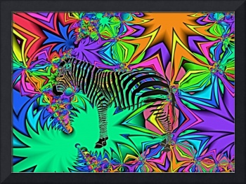 Zebra in Jungle Blend