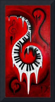 Red Hot - Swirling Piano Keys - Music In Motion
