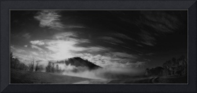 Catolochee Smoky Mountains Panorama#2-B&W