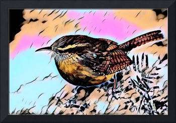 Cute Bird Pop Art comic