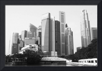 Cityscape Singapore 2014, black and white