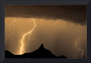 Pinnacle Peak Lightning Strike