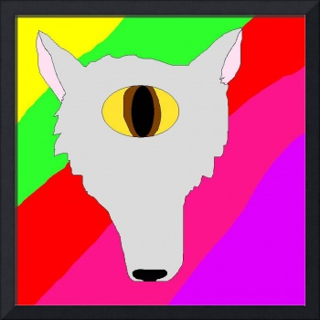 Psychedelic Cyclops Wolf