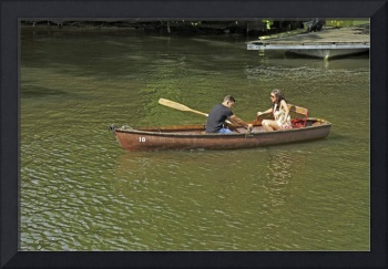 Rowing In Boat 18, Stratford-upon-Avon (36761-RDA)