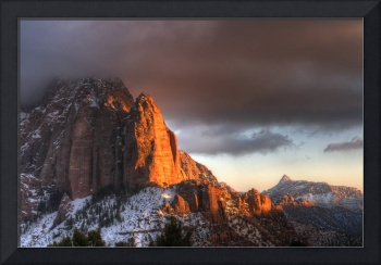 Setting Winter Sun on Kolob Canyon 2