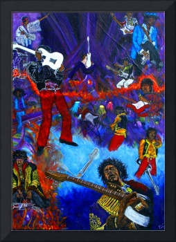 Purpled hazed --- Jimi Hendrix collage