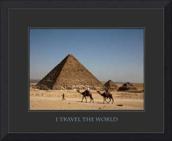 I Travel the World Cairo Egypt Affirmation Poster