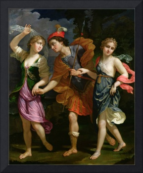 Theseus with Ariadne and Phaedra, the daughters of
