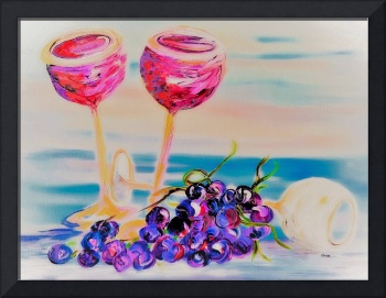 Glasses and Grapes Dreamy Style
