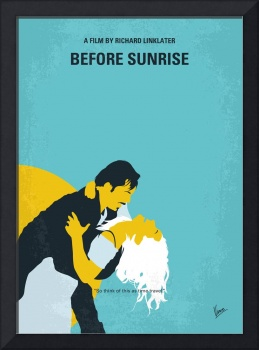 No1011 My Before Sunrise minimal movie poster
