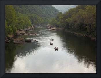 Floating down New River Gorge