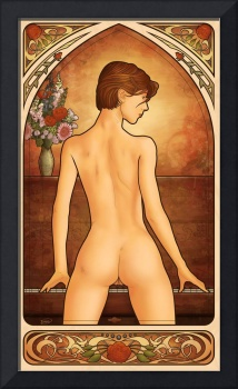Pin up Art Nouveau: 'Piano'
