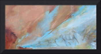 Patina II, 24x48 acrylic on canvas