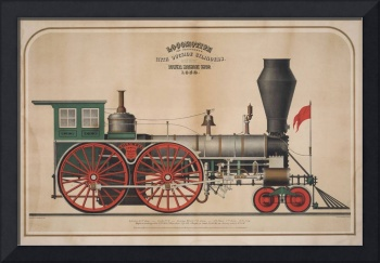 Locomotive for Passengers with Outside Cylinders.