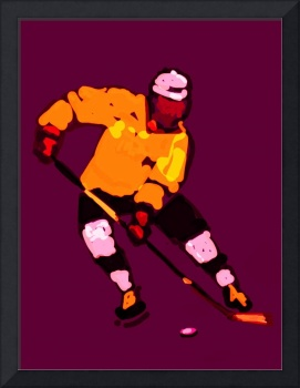 Hockey Left Wing purple orange yellow (c)