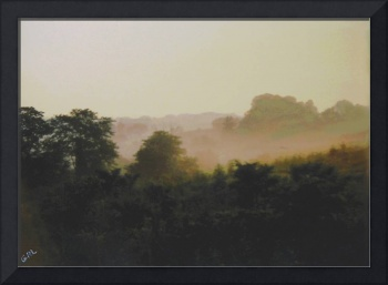 MISTY MORNING MARYLAND LANDSCAPE ORIGINAL FINE ART