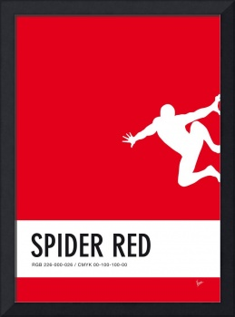 No24 My Minimal Color Code poster Spiderman