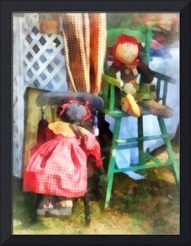Two Rag Dolls at Flea Market