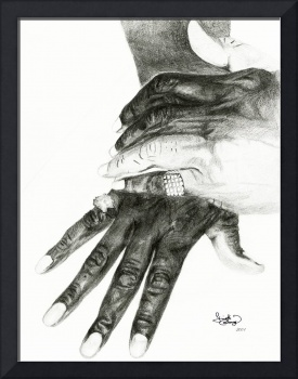 A Hand Study - Graphite by Ginette