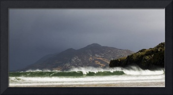Wave Breaking On Shore, Portsalon, County Donegal,
