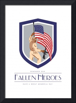 Memorial Day Greeting Card Soldier Military Holdi