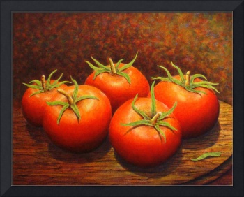 Tomatoes On Cutting Board acylic painting