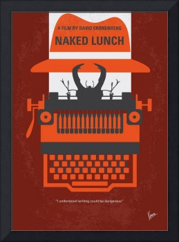 No534 My Naked Lunch minimal movie poster