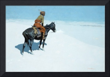 The Scout, Friends or Foes by Frederic Remington