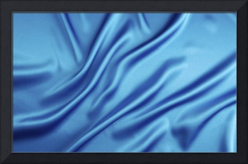Blue Satin Sheet Ripples Abstract