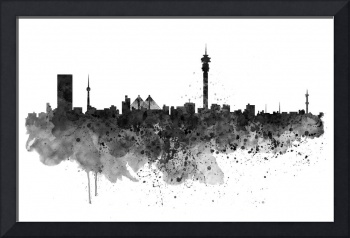 Johannesburg Black and White Skyline