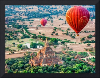 Balloons Over Temples of Bagan