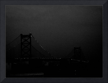 ben franklin bridge black and grey