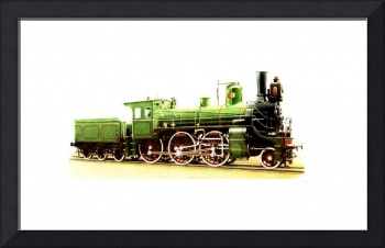 Green Steam Locomotive late 1800's