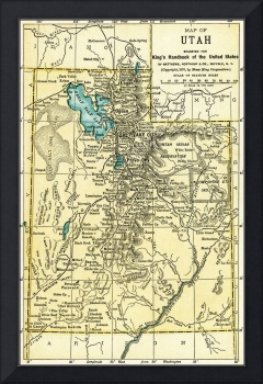 Utah Antique Map 1891